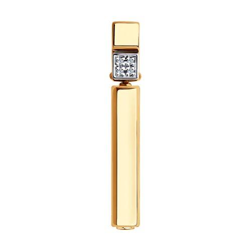 Подвеска из золота с бриллиантами и керамической вставкой 6035072 SOKOLOV фото