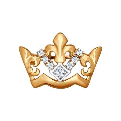 цена на Брошь «Корона» SOKOLOV из золота