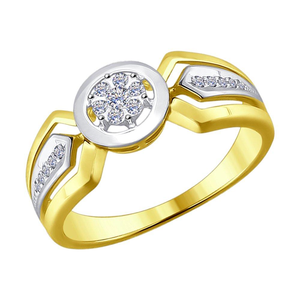 Кольцо SOKOLOV из желтого золота с бриллиантами кольцо с бриллиантами из розового золота valtera 73888