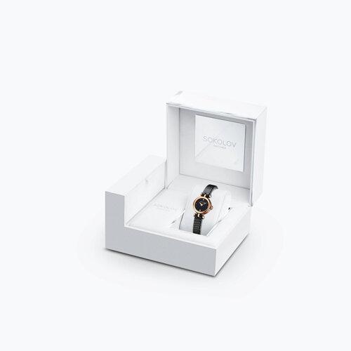 Женские золотые часы (215.01.00.000.02.01.2) - фото №4