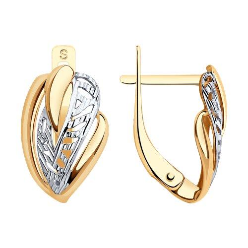 Серьги из золота с алмазной гранью (027517) - фото