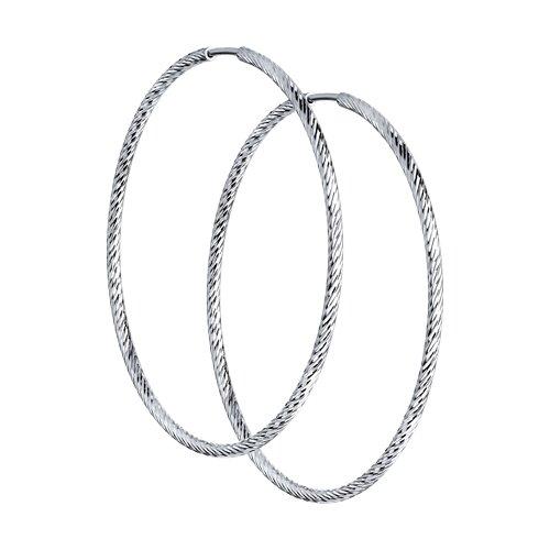Серьги конго SOKOLOV из серебра с алмазной гранью