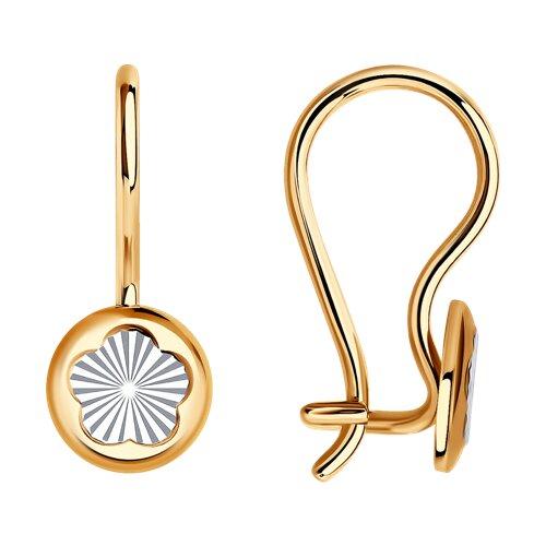 Серьги из золота с алмазной гранью (022382) - фото