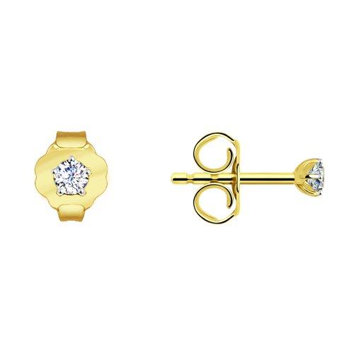Серьги из желтого золота (026932-5) - фото