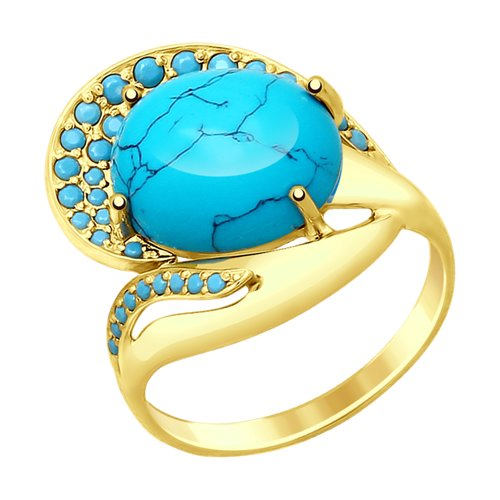 Кольцо из желтого золота (714812-2) - фото