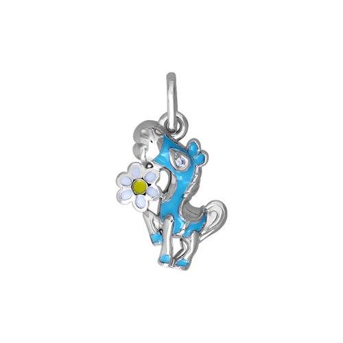 Подвеска SOKOLOV из серебра с эмалью с фианитом подвеска на браслет из серебра с фианитом