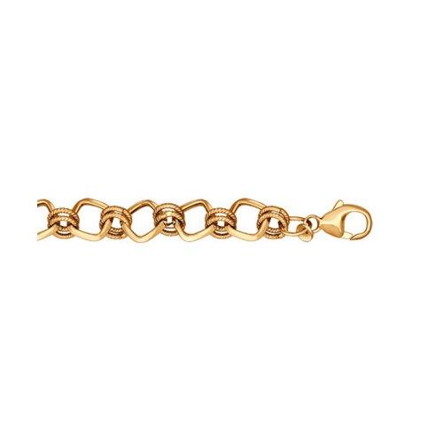 Серебряный браслет с позолотой состоящий SOKOLOV из круглых и квадратных звеньев