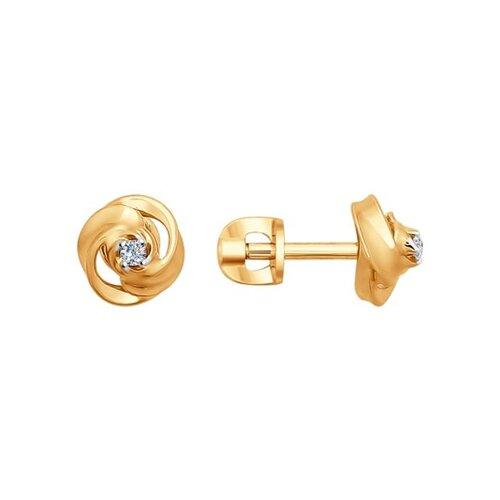 Серьги-пусеты из золота с бриллиантами цена 2017
