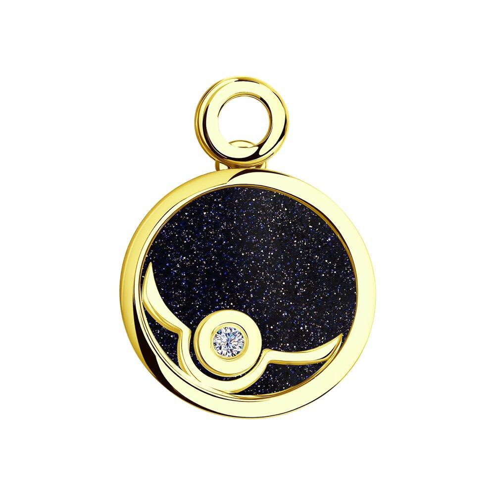 Фото - Подвеска SOKOLOV из желтого золота с бриллиантом подвеска sokolov из желтого золота с бриллиантом