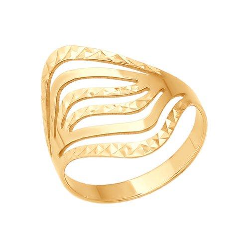 Золотое кольцо с алмазной гранью SOKOLOV золотое кольцо ювелирное изделие 01k616351