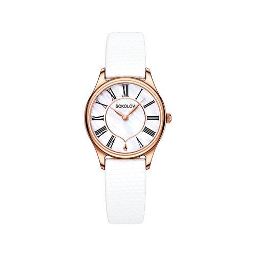 Женские золотые часы (238.01.00.000.01.02.2) - фото №2