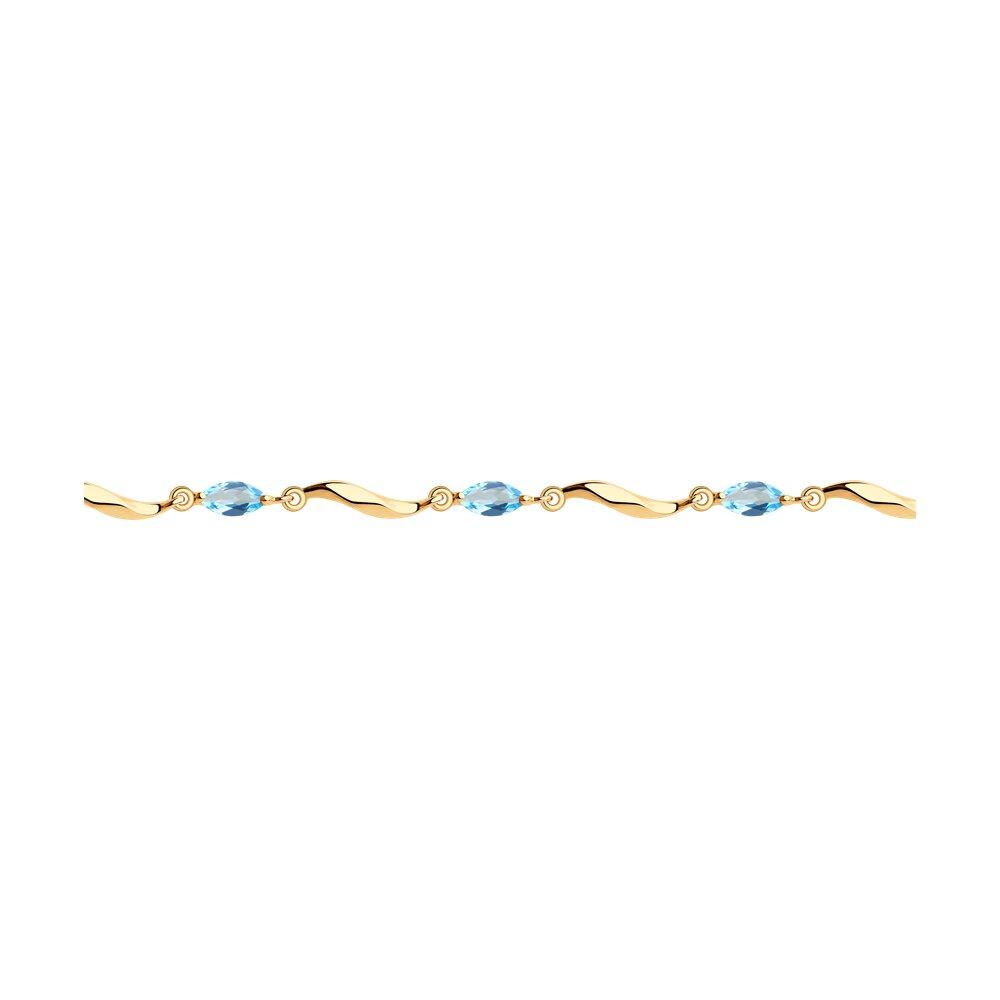 Браслет SOKOLOV из золота с топазами браслет классика 12 сардоникс