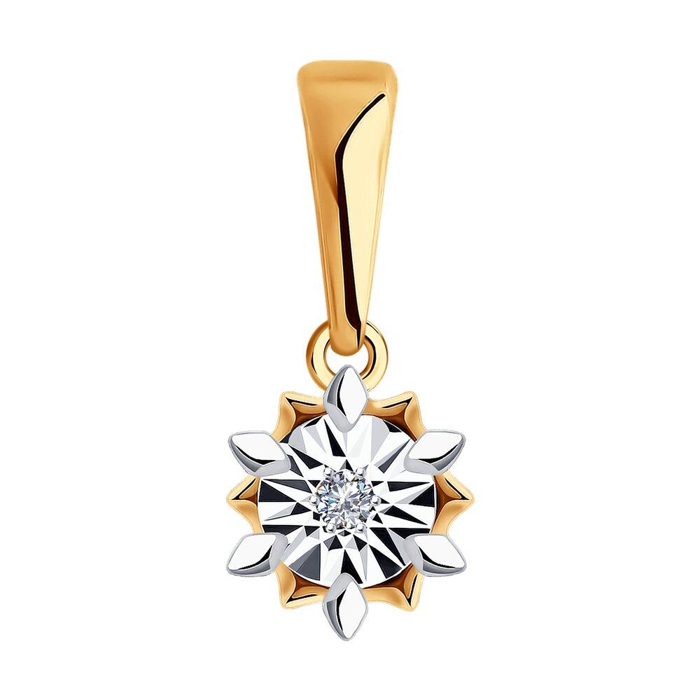 Купить со скидкой Подвеска SOKOLOV из золота с бриллиантом