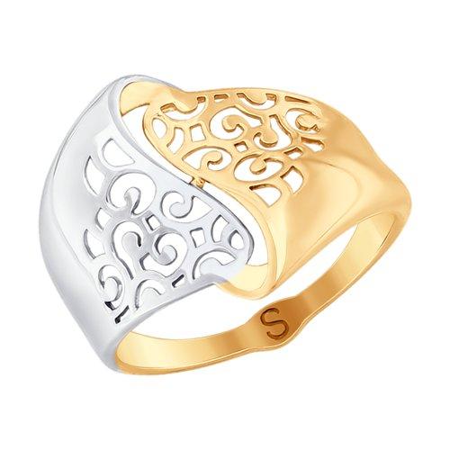 Кольцо из золота (017676) - фото