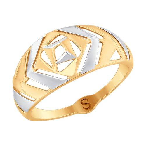 Кольцо из золота (017691) - фото