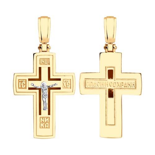 Подвеска- крест из золота 035836 sokolov фото