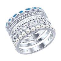 Наборное серебряное кольцо