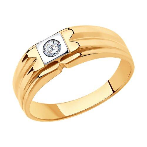 Кольцо из золота (018473) - фото