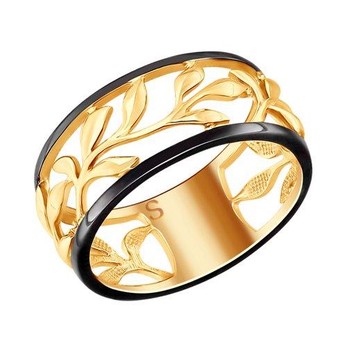 Кольцо из золочёного серебра (93010747) - фото