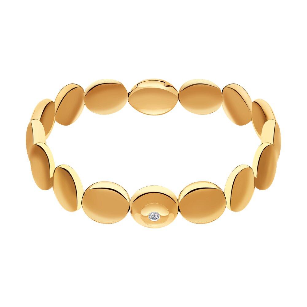 Керамический браслет с золотом и бриллиантом SOKOLOV фото
