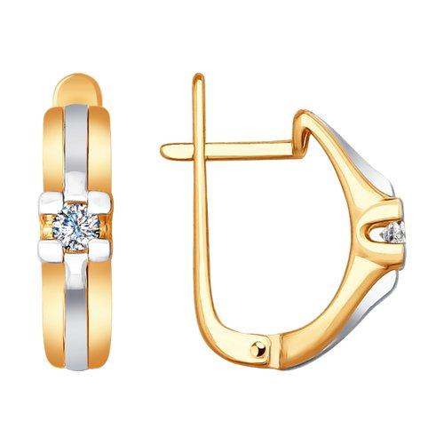Серьги из золота с бриллиантами (1021240) - фото