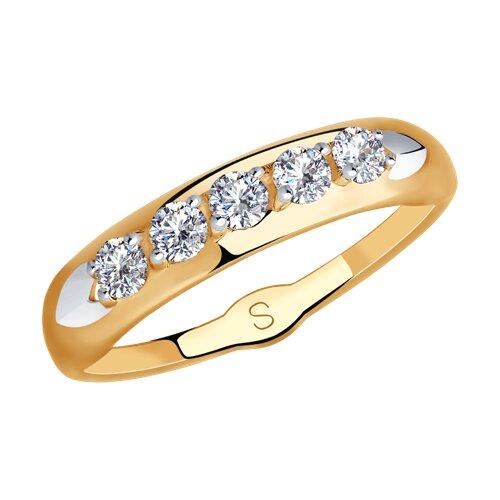 Кольцо из золота с фианитами 018241 sokolov фото