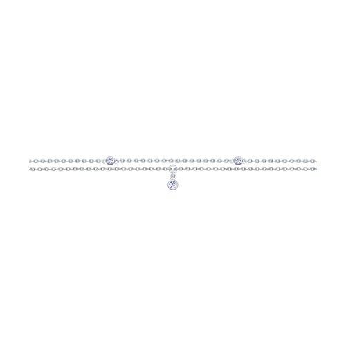 Браслет из серебра с фианитами (94050414) - фото
