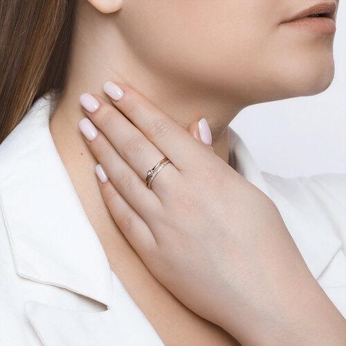 Кольцо из золота с бриллиантами (1011864) - фото №4