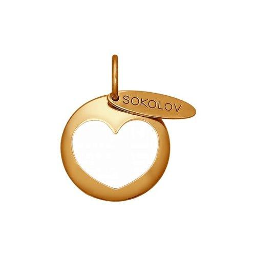 Подвеска SOKOLOV из золочёного серебра с эмалью sokolov подвеска из золочёного серебра с и эмалью 93030417