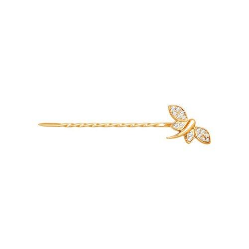 цена на Заколка бабочка SOKOLOV из золота с фианитами