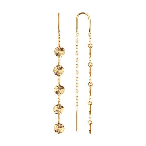 Серьги из золота с алмазной гранью 028563 sokolov фото