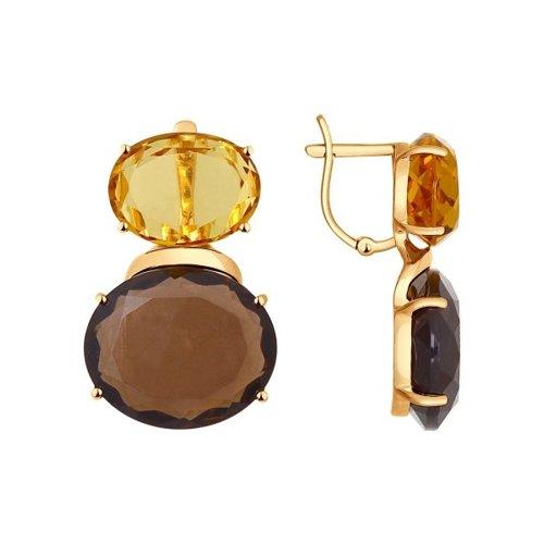 Серьги SOKOLOV из золота с полудрагоценными вставками