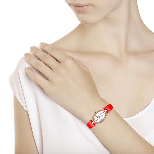 Женские золотые часы (236.01.00.100.03.03.2) - фото №3