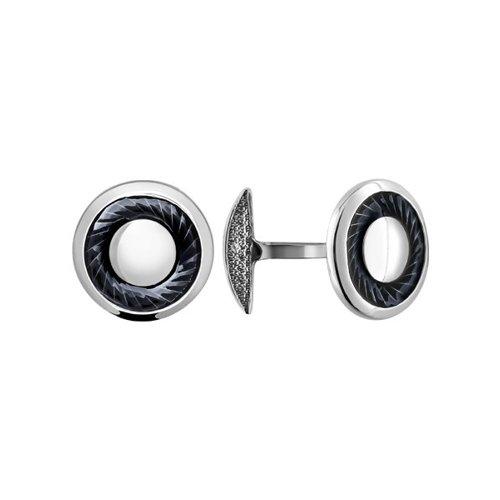 цена Серебряные мужские запонки для рубашки SOKOLOV онлайн в 2017 году