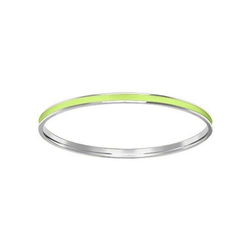 Салатовый жесткий браслет SOKOLOV из серебра