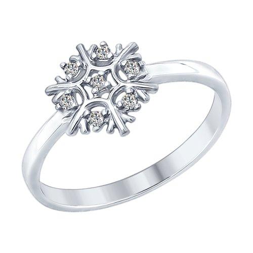 Кольцо «Снежинка»  (94012358) - фото