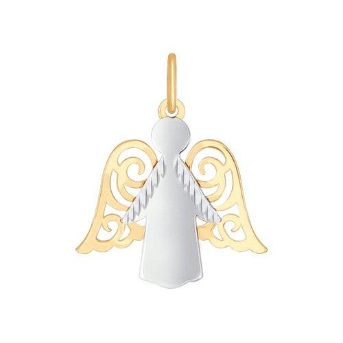 Подвеска «Ангел» SOKOLOV из комбинированного золота с алмазной гранью