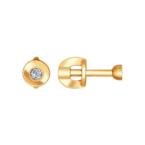 Серьги-пусеты SOKOLOV из золота с бриллиантами серьги пусеты круглые