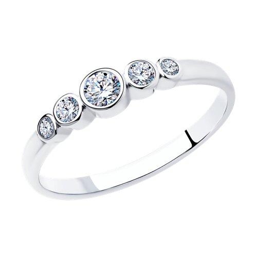 Кольцо «Зимние ягоды» из серебра с фианитами