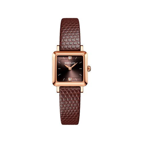 Женские золотые часы (231.01.00.000.08.07.2) - фото №2