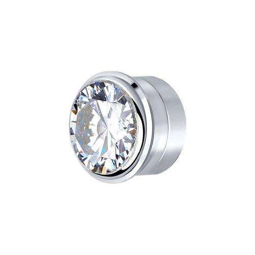 Вставка из серебра со Swarovski Zirconia (81030134) - фото