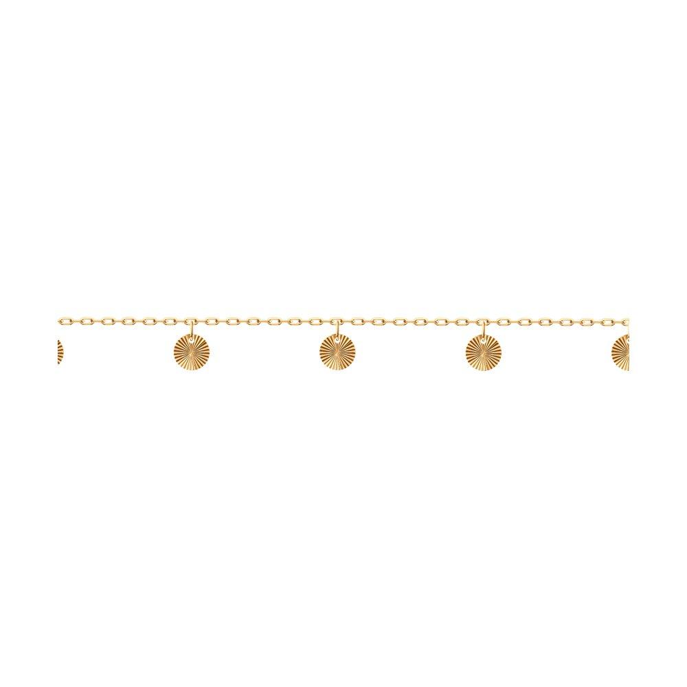 Браслет SOKOLOV из золота с алмазной гранью фото