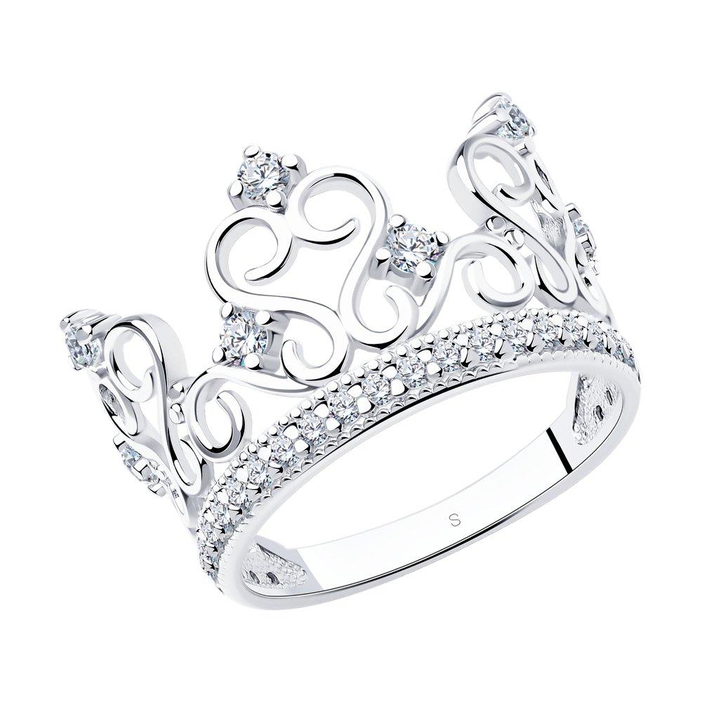 Кольцо «Корона» SOKOLOV из белого золота