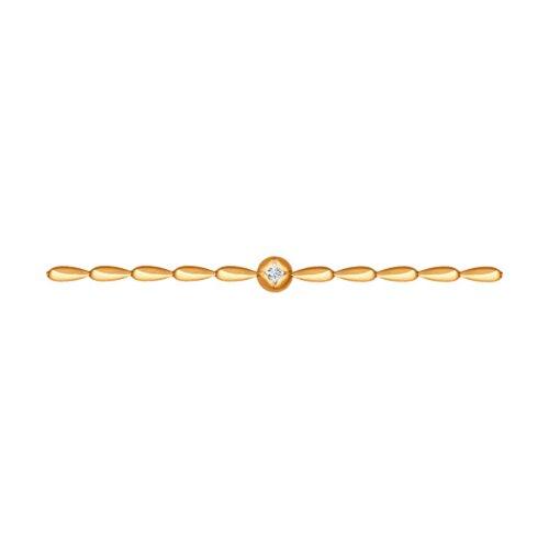 Браслет из золота с бриллиантом (1050077) - фото
