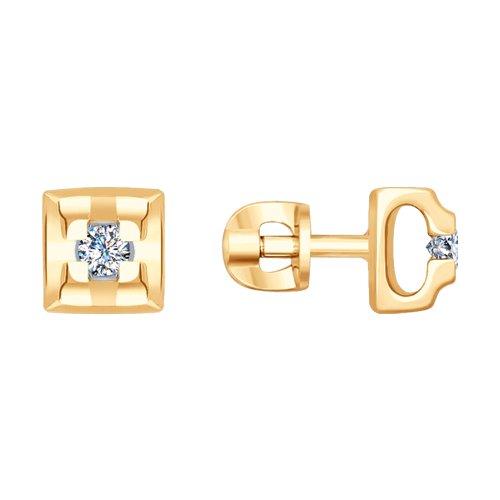 Серьги из золота с бриллиантами (1021392) - фото