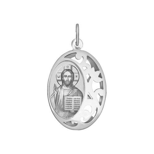 Иконка из серебра «Господь Вседержитель» (94100234) - фото