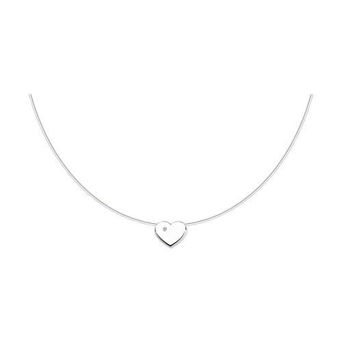 Серебряное колье «Любовь»