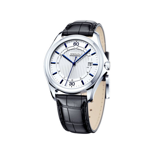 Мужские серебряные часы (135.30.00.000.05.01.3) - фото
