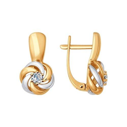 Серьги из золота с бриллиантами (1020959) - фото