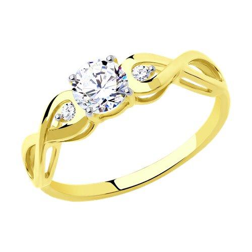 Кольцо из желтого золота 017154-2 sokolov фото